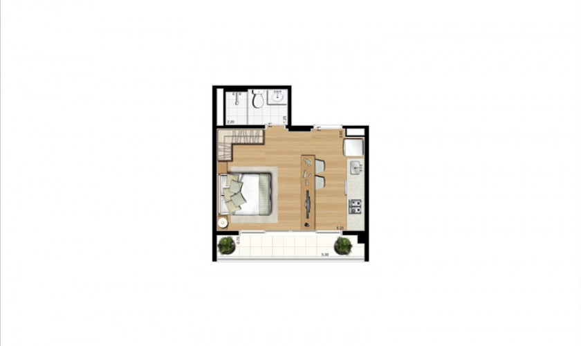 Home Boutique - 32m2 - 1dorm. - 1vaga